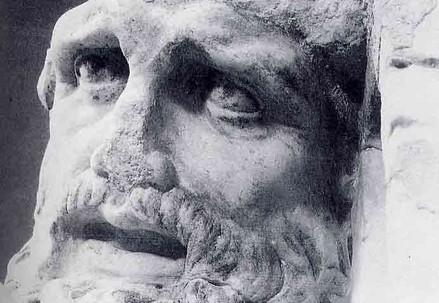 Il volto del timoniere di Ulisse, gruppo della Scilla (I sec. a.C.)