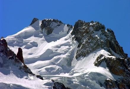 Il versante nord del Mont Maudit 4468 m. (foto Antonio Giani)