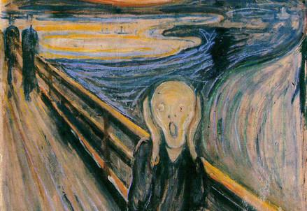 Edvard Munch, L'urlo (1893 e seg.) in una delle sue versioni (Immagine dal web)