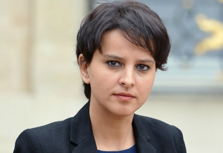 Najat Vallaud-Belkacem, ministro francese dell'Education nationale (Immagine dal web)