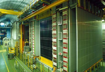 Il rivelatore OPERA nei Laboratori del Gran Sasso