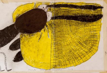 Un disegno in mostra all'Atelier dell'Errore (Immagine d'archivio)