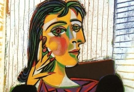 Pablo Picasso, Portrait de Dora Maar (particolare, 1937) (Immagine d'archivio)