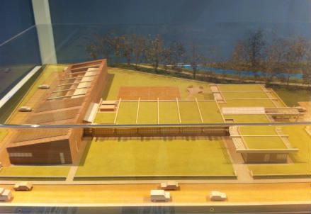Il plastico della nuova sede del Polo Legno Arredo di Lentate sul Seveso