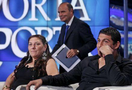 Vera e Vittorino Casamonica a Porta a Porta (Immagine dal web)