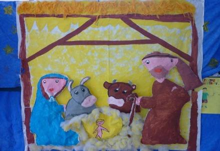 Presepe in una scuola elementare (Immagine dal web)