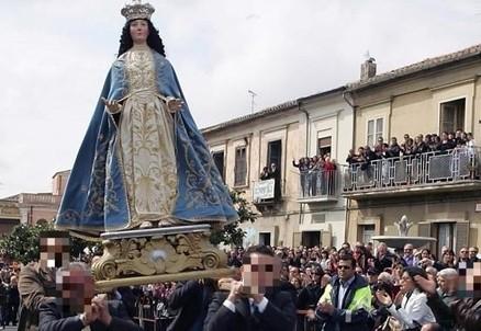 La processione dell'Affruntata, in Calabria (Immagine d'archivio)