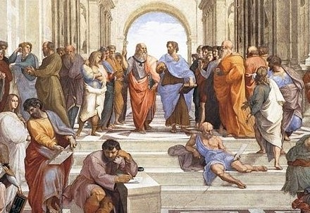 Raffaello, La scuola di Atene (1509-10) (Immagine d'archivio)