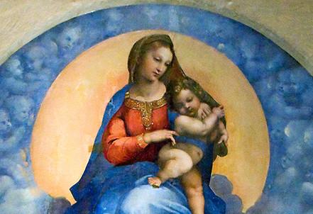 Raffaello, Madonna di Foligno (1511-12; particolare) (Immagine d'archivio)