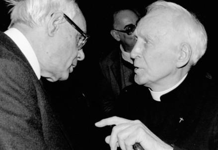 Karl Rahner (1904-1984) e Henri de Lubac (1896-1991) (Immagine d'archivio)