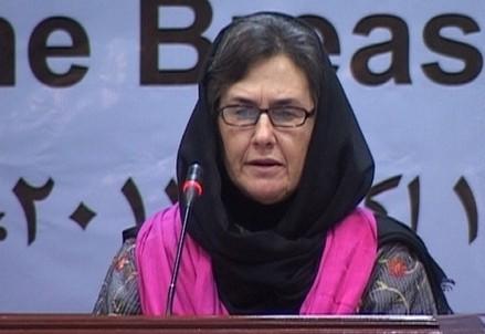 Rula Ghani, moglie del presidente afghano Ashraf Ghani (Immagine d'archivio)