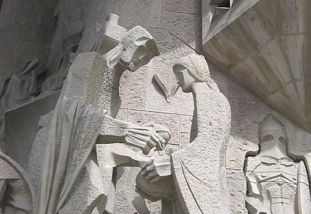 Sagrada Familia, particolare (Immagine d'archivio)