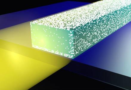 Cariche elettriche indotte dalla luce sulla superficie di una guida d'onda di silicio