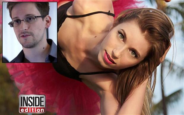 Edward Snowden e la fidanzata Lindsay  Mills