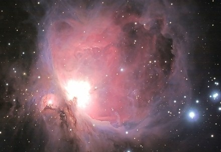 La nebulosa di Orione (Immagine d'archivio)