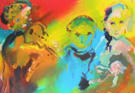 Ernesto Treccani, La famiglia di suonatori (Immagine dal web)