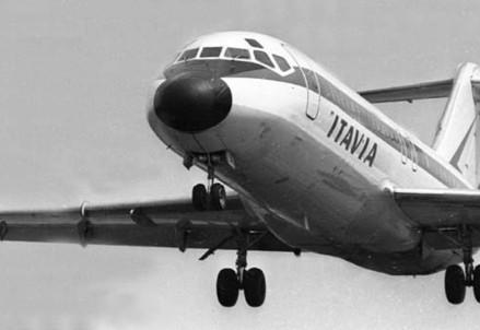 Un DC9 dell'Italia come quello esploso su Ustica (Immagine d'archivio)