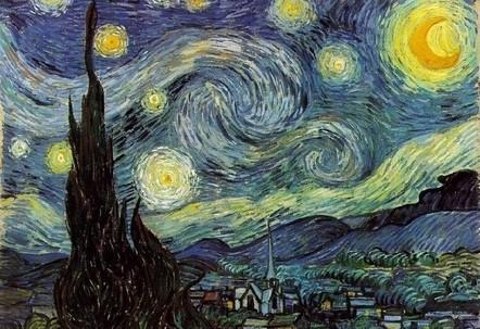 Vincent Van Gogh, Notte stellata (1889) (Immagine d'archivio)