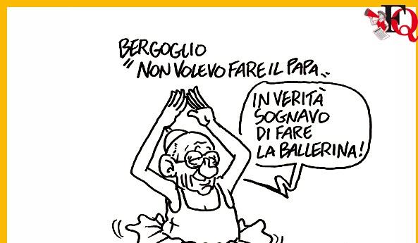 La vignetta di Vauro (fonte: Il Fatto Quotidiano)