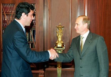 Boris Nemtsov con Vladimir Putin nel 2000
