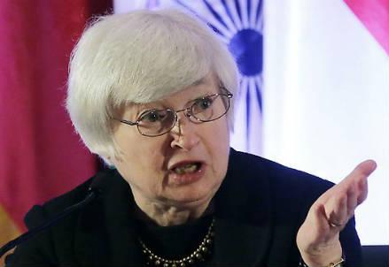 Il presidente della Fed Janet Yellen (Infophoto)