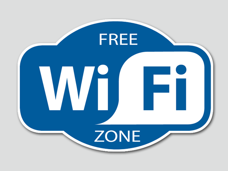 Cartello che indica zona di Wi-Fi libero