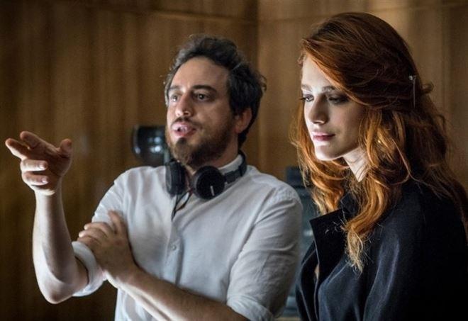 Giuseppe Gagliardi sul set con Miriam Leone