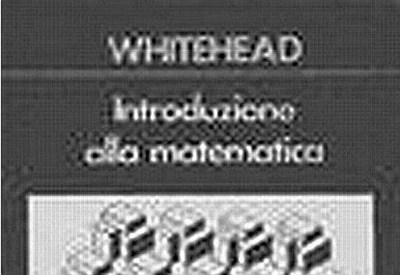 """Dalla copertina del libro """"Introduzione alla Matematica"""""""