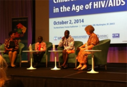 CHILDREN/ Ugandan Youth on Stage with AVSI at the World Bank