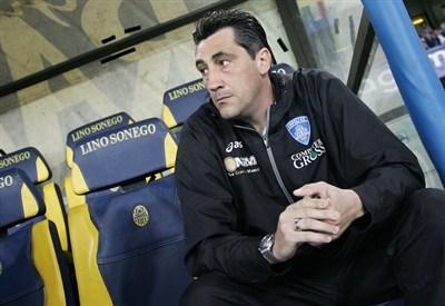 Il tecnico del Novara Aglietti (Infophoto)