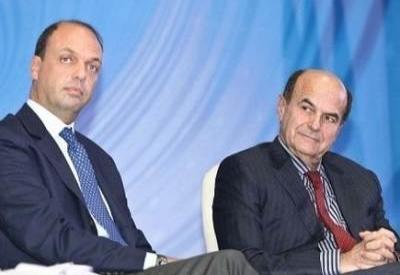 Angelino Alfano e Pier Luigi Bersani (Infophoto)