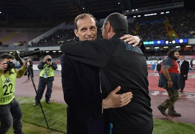 Sacchi vs Allegri, Maurizio Sarri in foto - La Presse