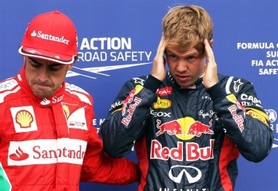 Alonso e Vettel, grandi rivali anche oggi (Infophoto)