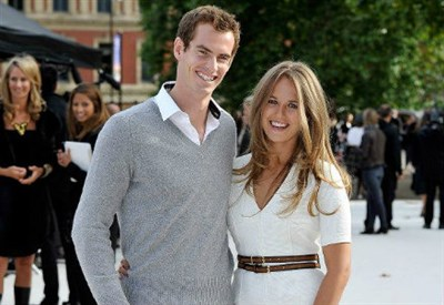 Andy Murray, 27 anni, con la fidanzata Kim Sears