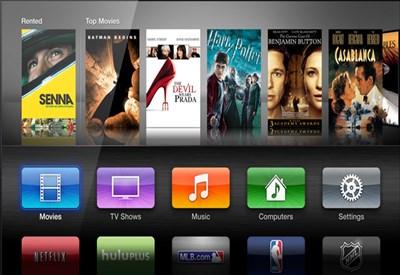 L'interfaccia di Apple TV