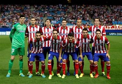 L'Atletico Madrid schierato in campo (Infophoto)