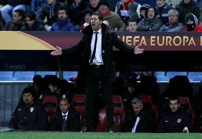 Simeone, allenatore Atletico Madrid (Infophoto)