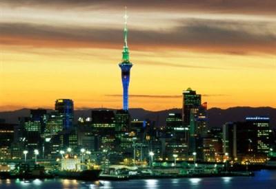 Lo skyline di Auckland, sede dell'ASB Classic di tennis