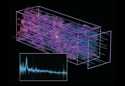 Illustrazione di Zosia Rostomian, Lawrence Berkeley National Laboratory; Nic Ross, BOSS Lyman-alpha team, Berkeley Lab; e Springel et al, Virgo Consortium e Max Planck Institute for Astrophysics