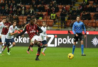 Mario Balotelli, attaccante Milan (Foto Infophoto)