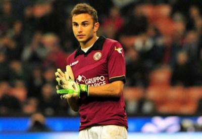 Francesco Bardi, portiere del Livorno di proprietà Inter (Infophoto)