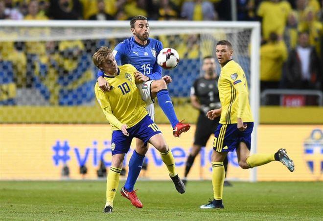 Pagelle Italia Svezia (Foto LaPresse)
