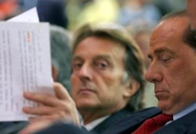 Berlusconi e Montezemolo (Infophoto)