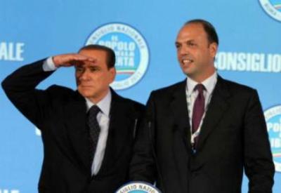 Angelino Alfano, Silvio Berlusconi (Infophoto)