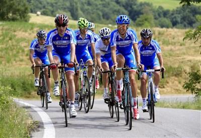 Gli azzurri in allenamento nel ritiro di Salsomaggiore (foto FCI)