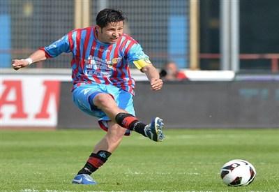 Marco Biagianti, centrocampista del Catania (Infophoto)