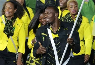 Usain Bolt portabandiera per la Giamaica (Infophoto)