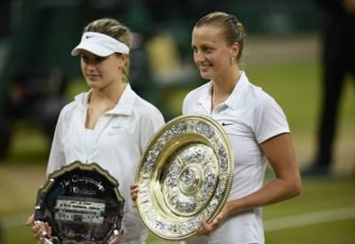 Eugenie Bouchard (20 anni) e Petra Kvitova (24) sul centrale di Wimbledon