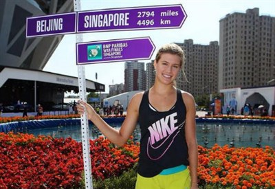 Eugenie Bouchard, 20 anni (dall'account Twitter @WTA)