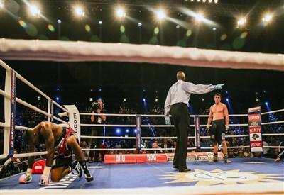 Un incontro di boxe (Foto Infophoto)